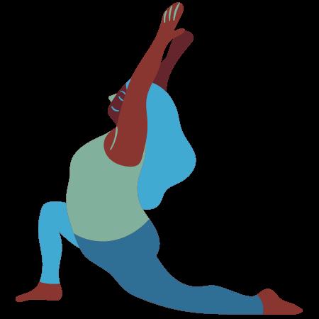 yoga lady lunge